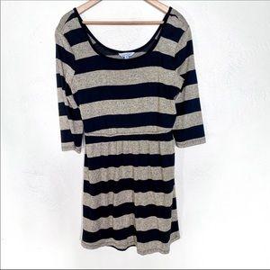 Speechless gold and black striped mini dress XL